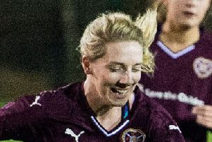 Rachel Walkingshaw in action for Hearts Ladies. Pic: TSPL