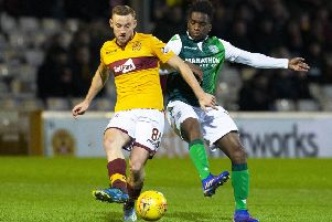 Stephane Omeonga will likely come up against Motherwell's Allan Campbell once more. Picture: SNS Group