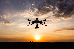 Drones were involved in highest-rated near misses with aircraft near Edinburgh and Glasgow airports.