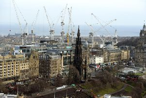 Cranes dominate the Capital's skyline as business does the heavy lifting. Picture: Lisa Ferguson