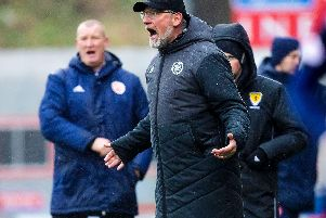 Craig Levein was left frustrated by his side's lack of competitive edge. Pic: SNS