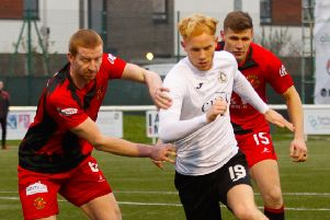 Scott Shepherd and Edinburgh City found Annan Athletic tricky opponents at Galabank