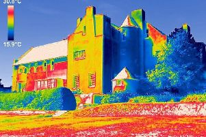 Thermographic imaging has revealed the severity of water damage to a renowned Charles Rennie Mackintosh property