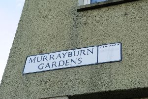 Murrayburn Gardens in Wester Hailes, where the attack took place. Picture: Jayne Wright