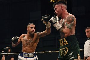 Lewis Benson's last fight was agaInst Tyrone McKenna when he suffered a controversial defeat