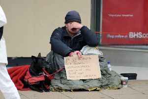 A homeless person in Edinburgh. Pic: Lisa Ferguson