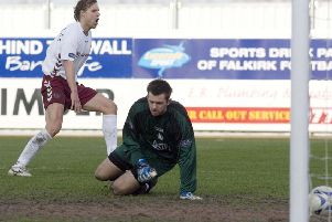 Edgaras Jankauskas struck late on at Falkirk