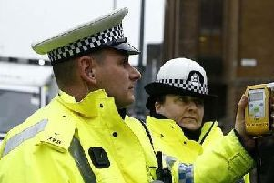 Road Policing Scotland said a driver gave a reading of 175mcg of alochol in 100ml of breath. Pic: Road Policing Scotland