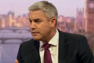 Brexit Secretary Steve Barclay appearing on the BBC's Andrew Marr show