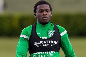 Thomas Agyepong hasn't featured for Hibs since late November