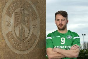 Marc McNulty was sounded out by Hearts over a move prior to joining Hibs. Picture: SNS Group