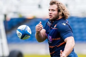 Edinburgh's Pierre Schoeman will have a key role to play in the forwards