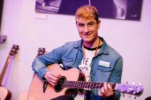 Andrew also took part in a music workshop at event