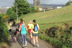 A group on one of the the guided running tours. Pic: contributed