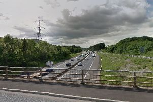 The youths were spotted on the Dreghorn Link Bridge. Picture: Google