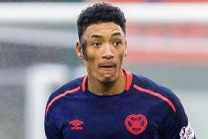 Hearts attacker Sean Clare has been affected by a hip injury