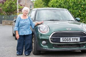 Alexandra Mitchell, 68, who has both legs in calipers, is to lose her Motability car after a new benefits assessment ruled she no longer qualified. Picture: Ian Georgeson