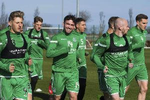 The Hibs squad have been working hard on their fitness