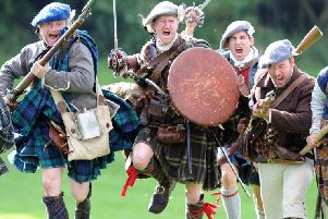 Battle of Prestonpans Re-enactments at Cuthill Park, Prestonpans.  Pic: Ian Rutherford