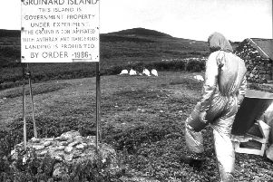 Gruinard was officially out of bounds from 1942 to 1990 as a result of secret anthrax testing during World War Two with few visitors returning to the island today. PIC: TSPL.