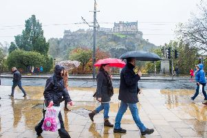 Heavy Rain is expected this weekend in Edinburgh and the Lothians. Picture: Ian Georgeson
