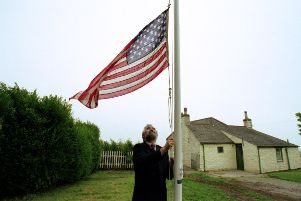 The American flag is raised at the former home of the US Navy founder John Paul Jones with the birthplace museum in his name now saved by a donor from the United States. PIC: TSPL.