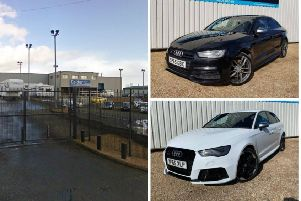 The vehicles were stolen overnight. Pic: Police Scotland
