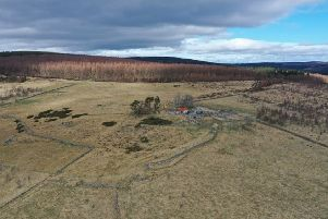 Archaeologists will excavate the site of the old Blackmiddens whisky distillery close to the Aberdeenshire and Moray border. PIC: Contributed.