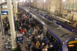 Passengers regularly suffer overcrowding on the Borders Railway. Picture: Robert Drysdale