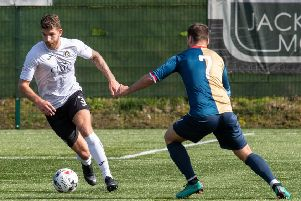 Robbie McIntrye in action for Edinburgh City. Pic: TSPL
