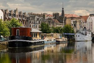 Stock image of The Shore in Leith