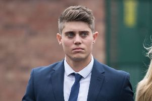 Cricketer Alex Hepburn leaves Worcester Crown Court. Picture: Aaron Chown/PA Wire