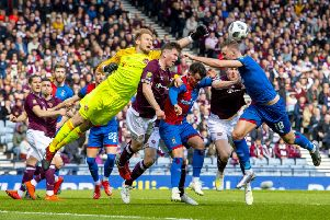 Zdenek Zlamal impressed for Hearts against Inverness. Pic: SNS
