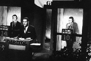 Host Jack Barry questions Charles Van Doren (Picture: NBC Television/Getty Images)