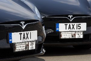 Edinburgh taxi company Capital Cars has forked out �130,000 on personalised number plates, for two new electric Teslas, TAXI and TAXI5, with TAXI plate worth more than the car it sits on.