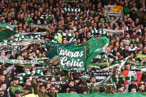 A general view of Celtic fans at the Scottish Cup semi-final with Aberdeen. Picture: SNS Group