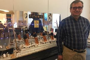 West Lothian veteran with sight loss builds Titanic model for world tour