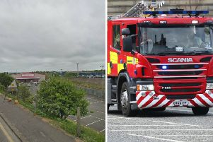 The fire broke out near to a railway bridge close to Matalan this morning. Pic: Google Maps