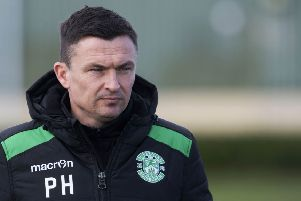 Hibs head coach Paul Heckingbottom hasn't given up hope of finishing third. Picture: SNS Group