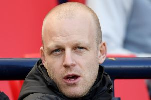 Hearts' Steven Naismith is currently sidelined by a knee injury. Pic: SNS
