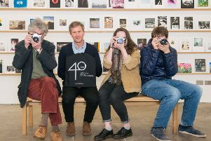Stills director Ben Harman celebrating the gallery's 40th anniversary in 2017. Picture: Ian Georgeson