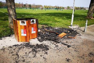 Locals rage after yobs torch brand new recycling bins at Saughton Park