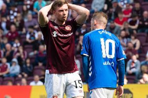 Craig Wighton can't believe it after Allan McGregor saves his goalbound header