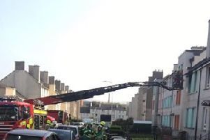 Firefighters at Crewe Road Gardens. Picture: Contributed