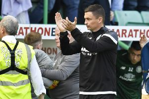 Hibs boss Paul Heckingbottom was proud of his players in the 0-0 draw with Celtic. Pic: SNS