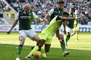 David Gray, left, and Darren McGregor have been mainstays of Paul Heckingbottom's Hibs squad. Pic: SNS