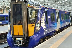 New class 385 trains started running today on the Edinburgh-Shotts-Glasgow Central line. Picture: ScotRail