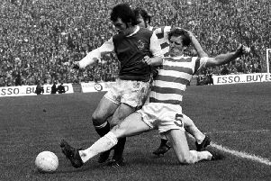 Billy McNeill in action against Hibs. Picture: SNS