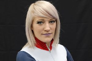 Scottish speed skater Elise Christie.