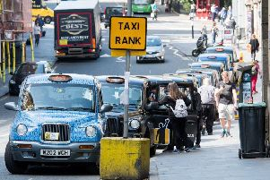 Taxi drivers were sent home to change. Picture: Ian Georgeson